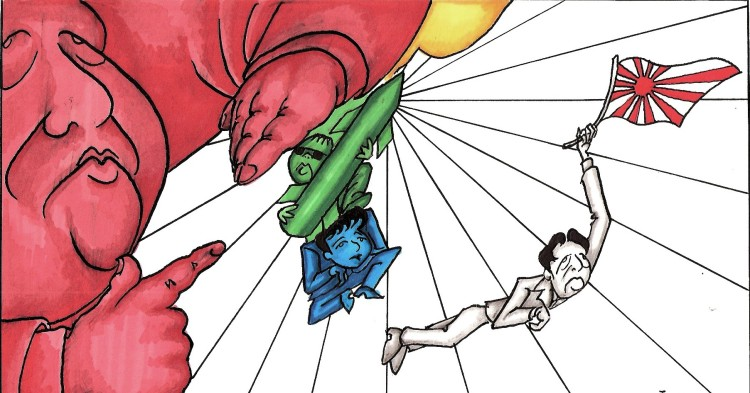 Xi-Jinping-Kim-Jong-Un-with-Nuke-Park-Geun-hye-Shinzo-Abe